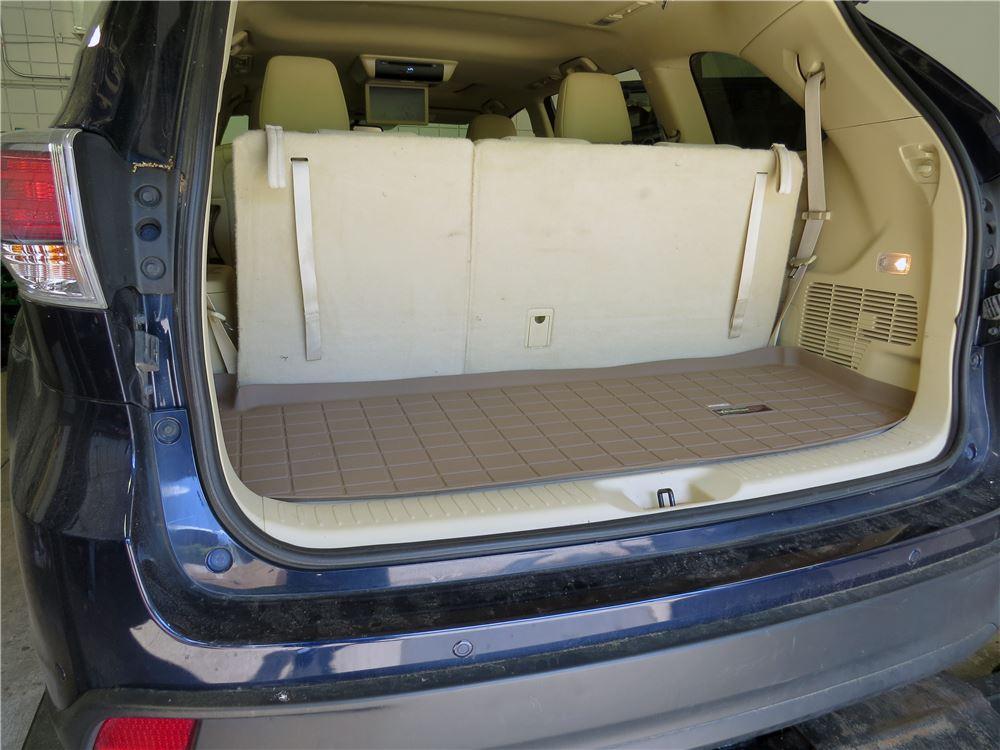 2016 Toyota Highlander Weathertech Cargo Liner Tan