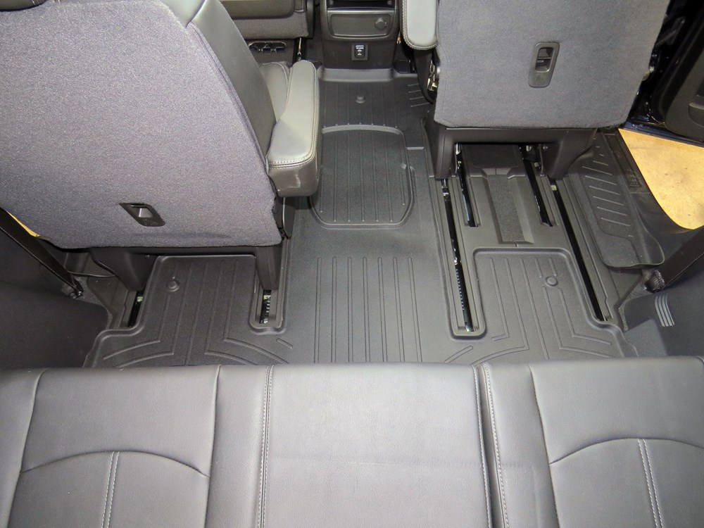 Phenomenal Weathertech 2Nd And 3Rd Row Rear Auto Floor Mat Black Pabps2019 Chair Design Images Pabps2019Com