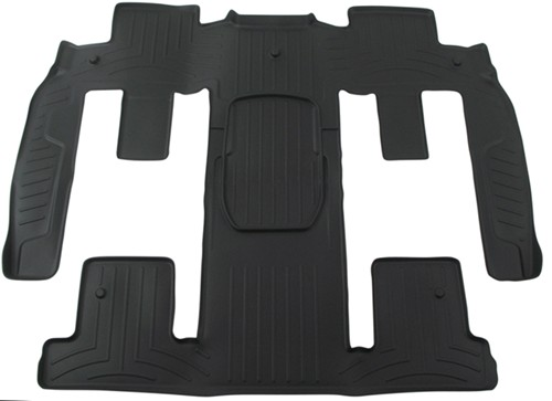 Weathertech 2nd And 3rd Row Rear Auto Floor Mat Black