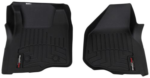 replaces carpet 08-16 Ford F250 super duty crew cab 4 dr Black Vinyl Floor Mat