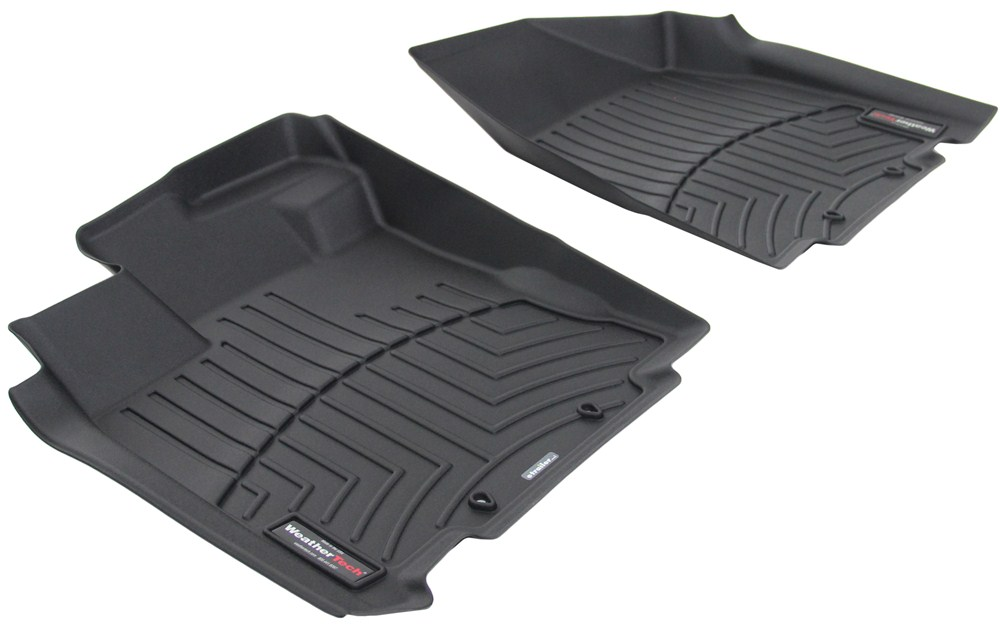 2017 nissan pathfinder weathertech front auto floor mats black. Black Bedroom Furniture Sets. Home Design Ideas