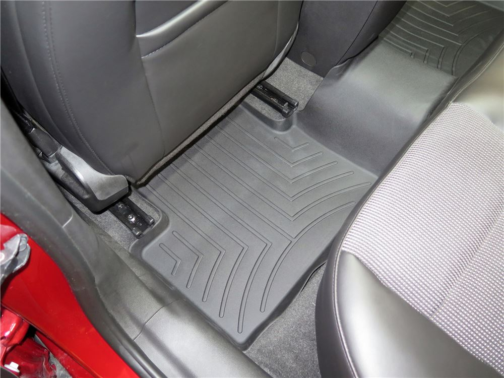 weathertech 2nd row rear auto floor mat black. Black Bedroom Furniture Sets. Home Design Ideas