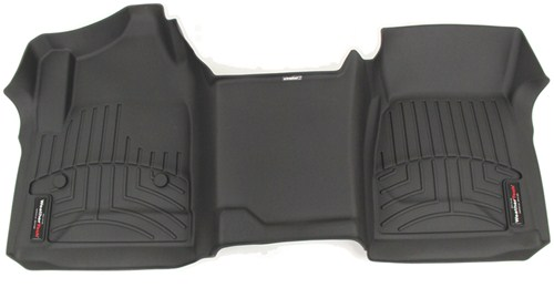 Weathertech Front Auto Floor Mat Single Piece Black
