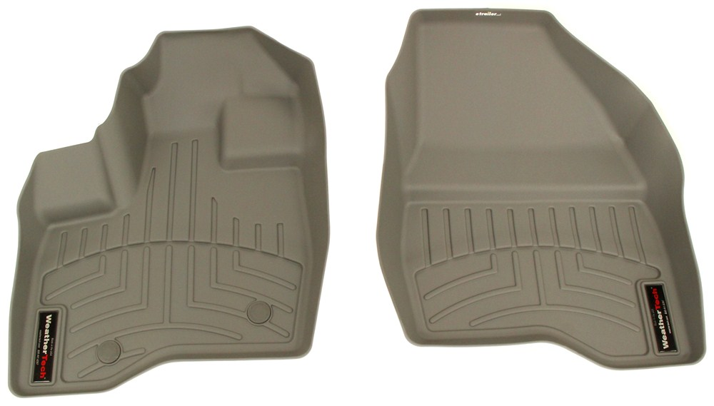 2013 Ford Explorer Weathertech Front Auto Floor Mats Gray