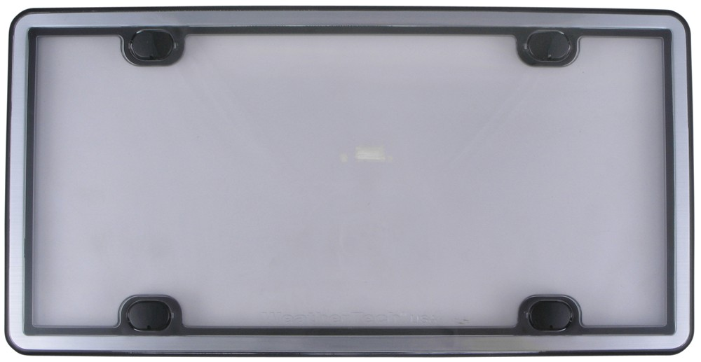 WeatherTech Brushed Stainless License Plate Cover