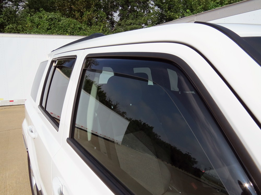 2015 Jeep Patriot Weathertech Side Window Air Deflectors With Light Tinting - Front And Rear