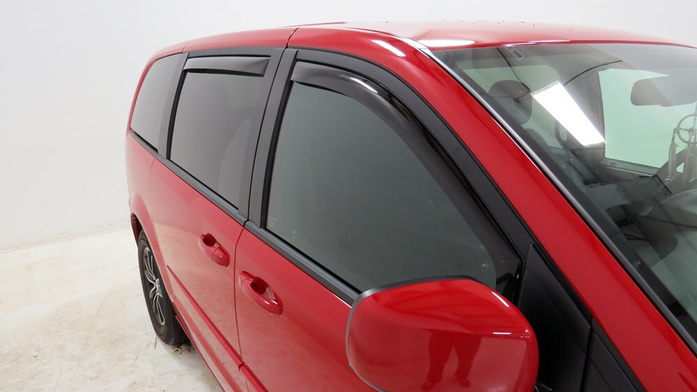 Weathertech Side Window Air Deflectors With Dark Tinting Front And