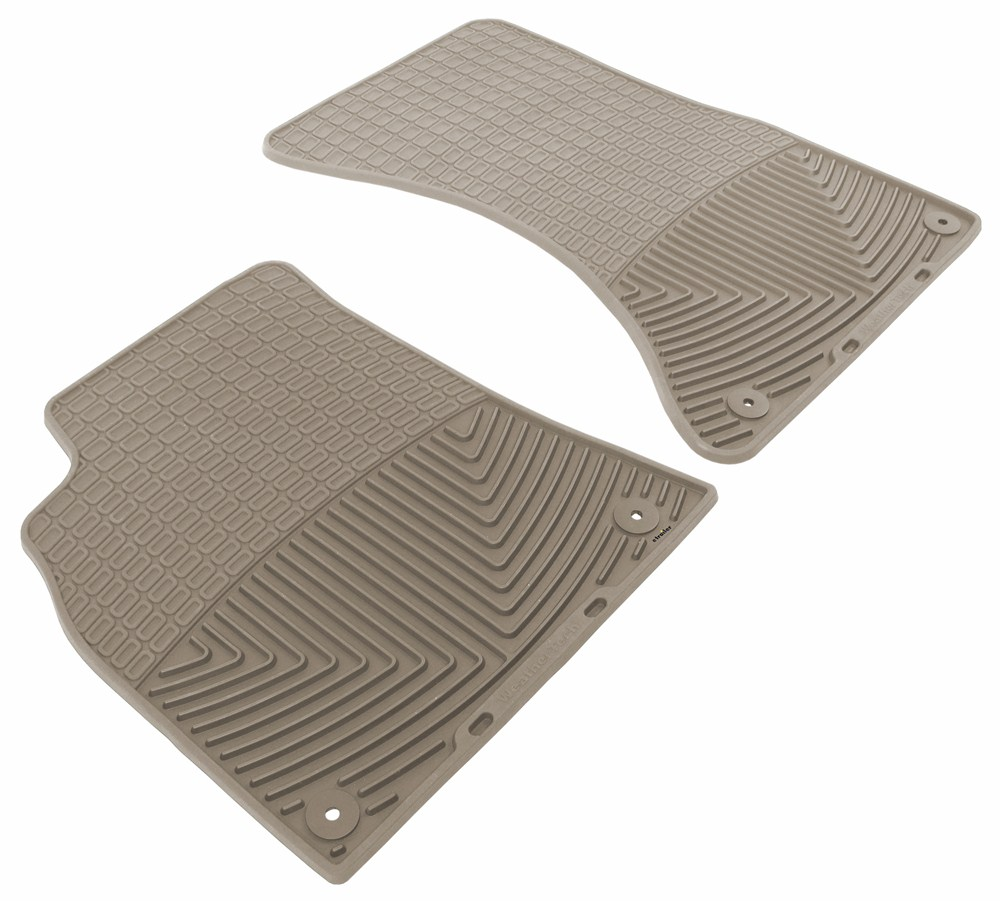 2011 Audi A4 WeatherTech All-Weather Front Floor Mats - Tan