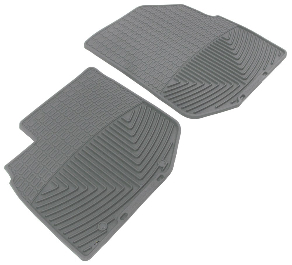 2013 honda fit weathertech all weather front floor mats gray. Black Bedroom Furniture Sets. Home Design Ideas