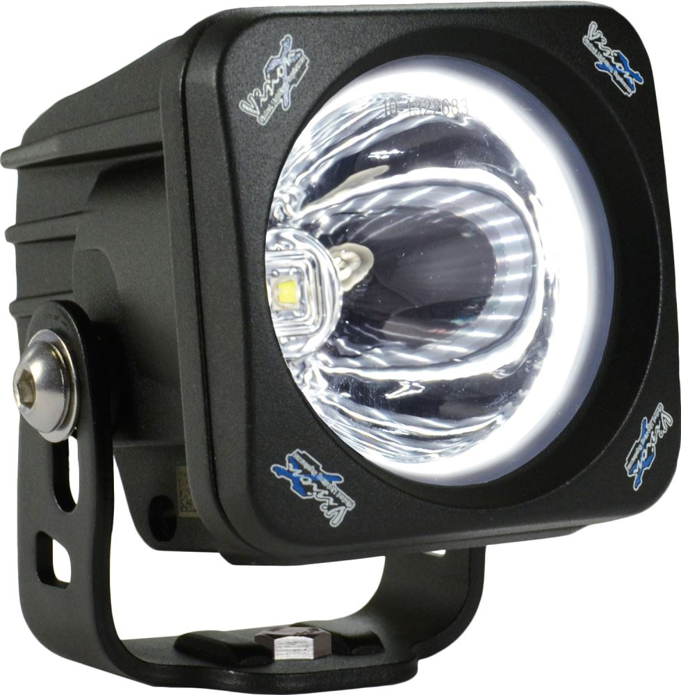Vision X Optimus Halo Square Pod Light Led 10w Spot Beam 3 Motorcycle Trailer Wiring Harness Wide Off Road Lights Xil Oph115