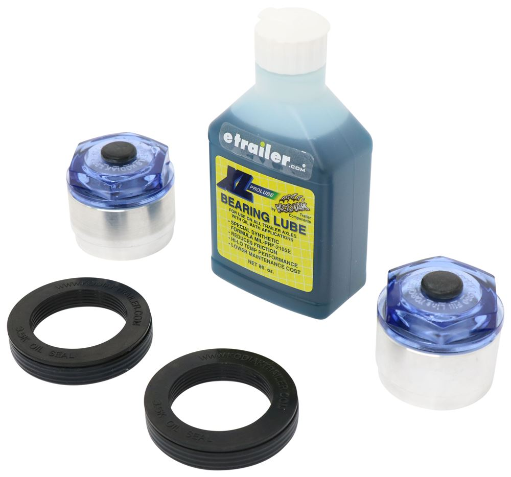 XLPROLUBE1980KIT - 1.98 Inch Kodiak Trailer Bearings Races Seals Caps
