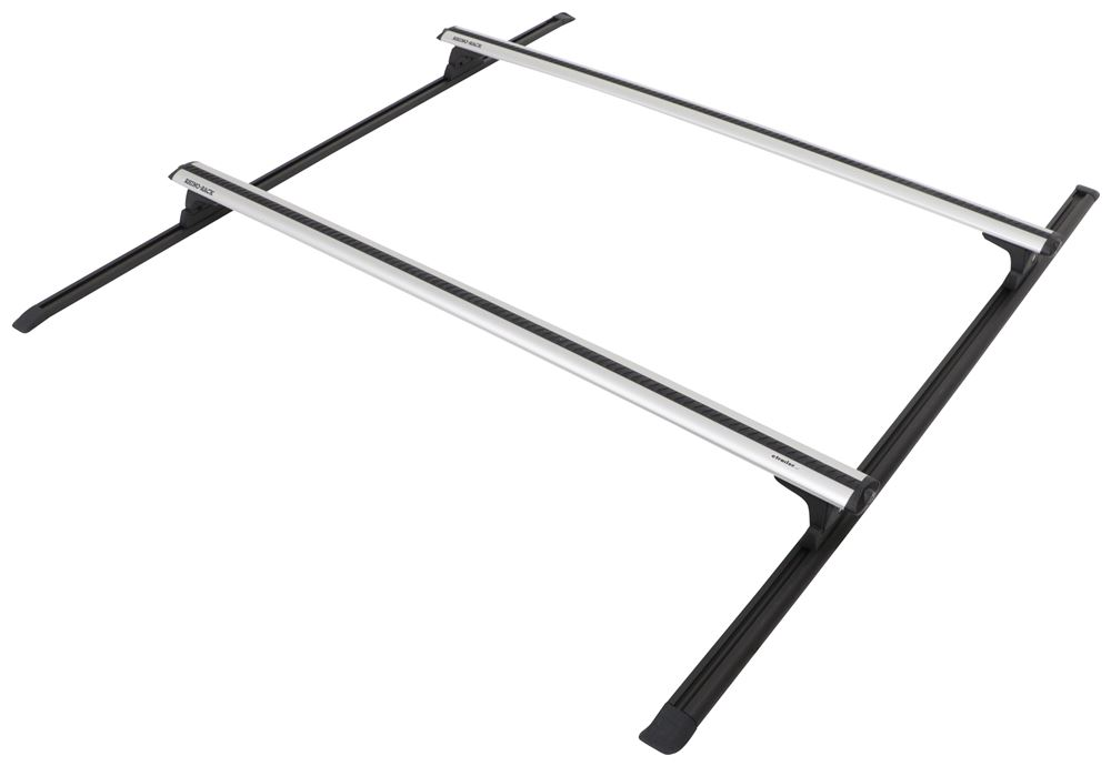 "Rhino-Rack Roof Rack w/ 2 Vortex Aero Bars - Track Mount - Silver - Standard Roof - 65"" Long 65 In Bar Space Y02-500"