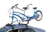 Side View of Yakima SideWinder Roof Mounted Tandem Bike Carrier with Wheel Mount on Vehicle