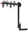 Side View of Yakima DoubleDown 4 Bike Hitch Mounted Folding Rack