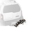 Drawing of Yakima DoubleDown 4 Bike Hitch Mounted Folding Rack on Vehicle