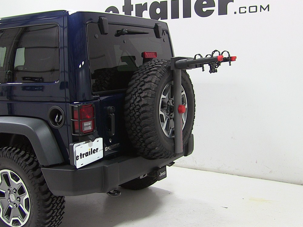 2013 Jeep Wrangler Unlimited Yakima Sparetime 2 Bike