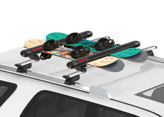 Snowboards on Roof Rack