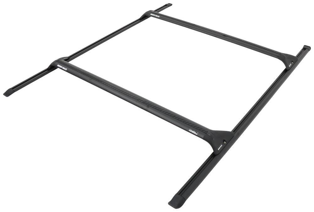 "Rhino-Rack Roof Rack System w/ 2 Aero Crossbars - Track Mount - Black - 37"" Long Fixed Height Y06-550"