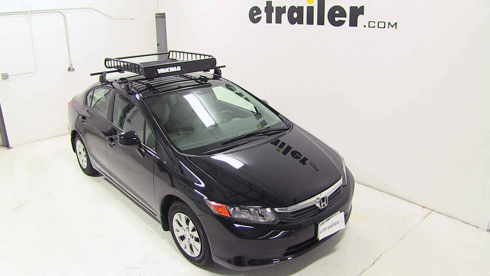 honda civic yakima loadwarrior roof rack cargo basket. Black Bedroom Furniture Sets. Home Design Ideas