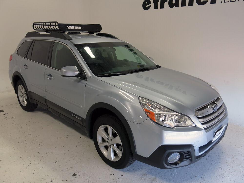 Roof Racks Subaru Outback >> 2015 Subaru Outback Wagon Yakima LoadWarrior Roof Rack Cargo Basket