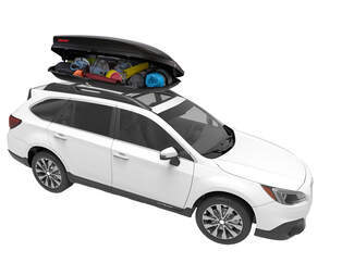 Cargo Box on Roof Rack
