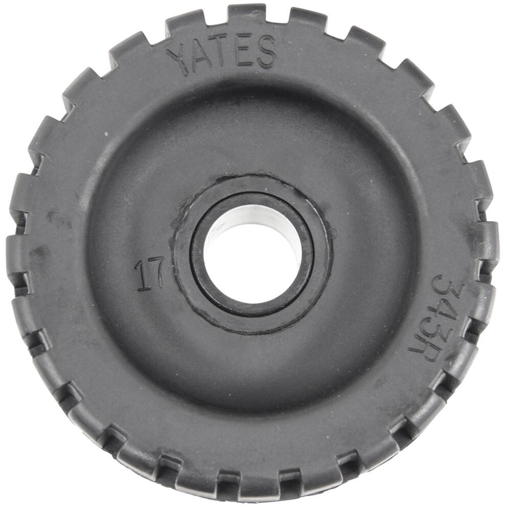 "Yates Rubber 343R-6P  Rib Roller 4-3//8/"" X 3//4/"""